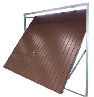 Brama garażowa uchylna LEGBUD 247X209 cm PROMOCJA- GRAFIT