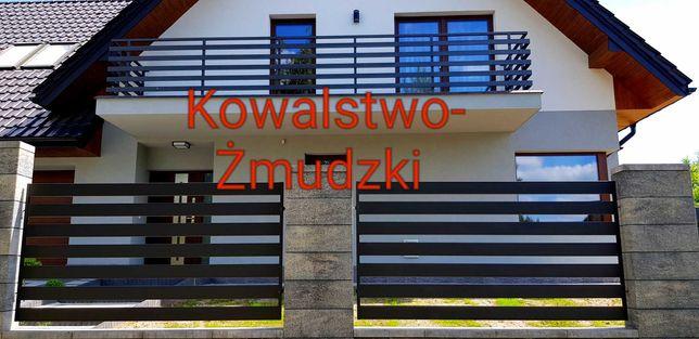 Stalowe balustrady tarasowe nowoczesne bramy przesło krata okienna
