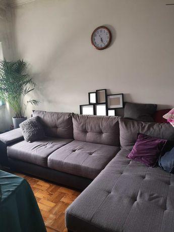 Sofá cama de canto com arrumação