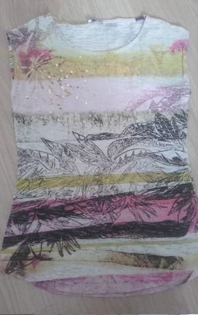 Bluzka wzór a'la roślinny, tie dye