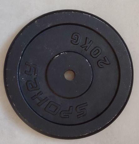 Obciążenie żeliwne, talerze, ciężary 2x20kg