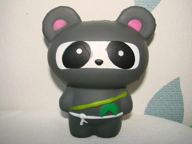 новый фирменный сквиш squish мишка панда антистресс высота 12 см ширин