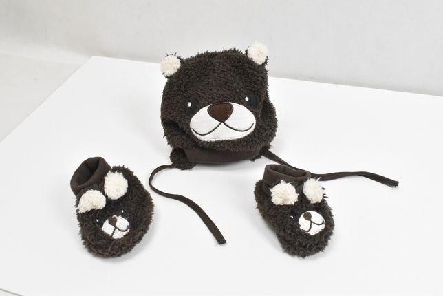 Zestaw dla niemowlaka 3-6 miesięcy czapka buciki