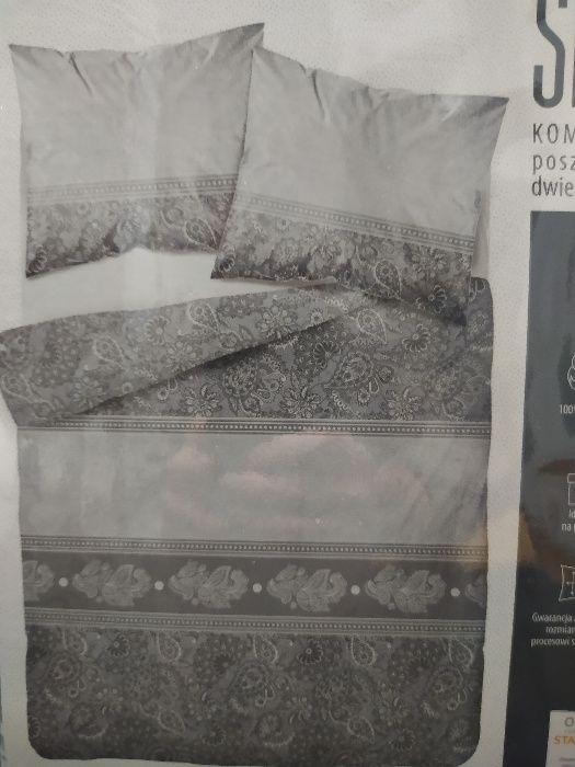 SATYNA Komplet pościeli 160 x 200 cm 100% Bawełna Toruń - image 1