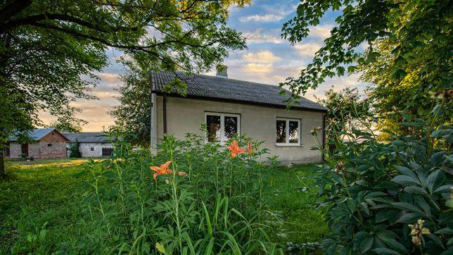 Dom, siedlisko, z budynkami, 3,04 ha, staw 0,45ha, 4km do rzeki Bug.