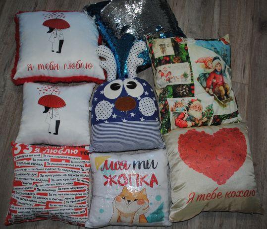 Подарок девушке любимой ребенку на день рождения подушка, подушечка