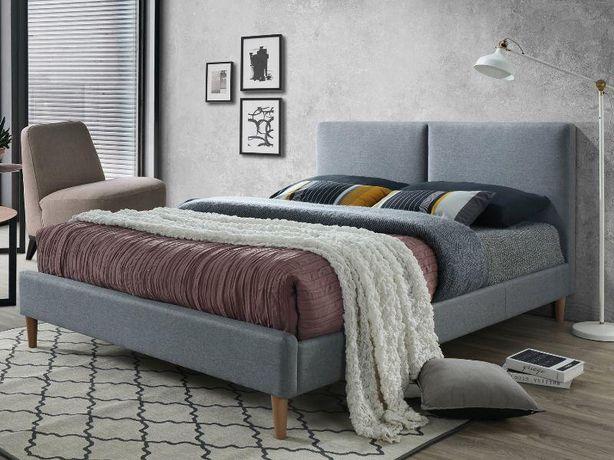 ACOMA 160 – łóżko tapicerowane szare DOWÓZ GRATIS