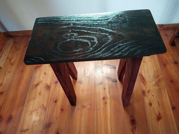 Stolik,stołek dębowy