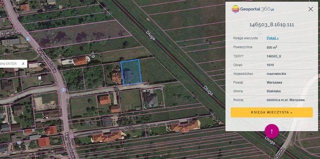 Białołęka działka 800m z domem 176m2 w stanie surowym