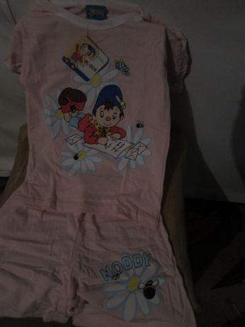 Pijama de Verão Noddy T-Shirt + Calção Cor-de-Rosa Estampado 6/8 Anos
