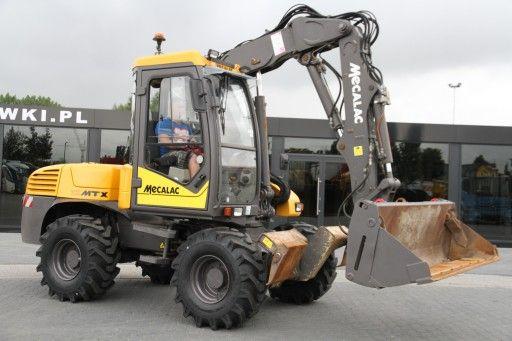Roboty ziemne wykopy przyłącza niwelacje wyburzenia Mecalac JCB