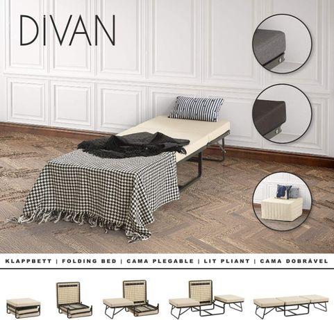 DIVAN - Cama de hóspedes convertível em sofá / cama dobrável
