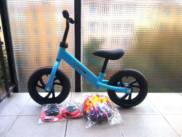 Rowerek biegowy - NOWY - kask + ochraniacze GRATIS - 3 kolory