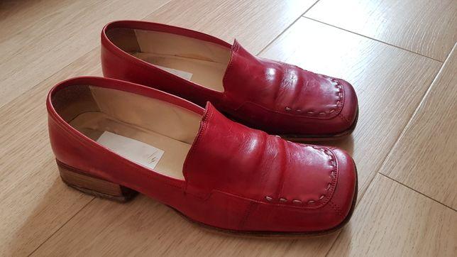 Włoskie buty damskie rozmiar 39 czerwone