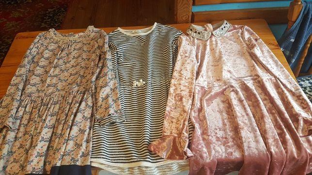 Trzy sukienki dziewczęce do wyboru rozm.146-152  zakupione w Anglii.
