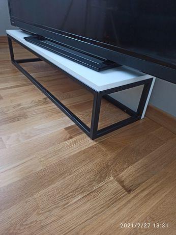 Półka, stojak, podstawka, RTV, loft metalowy czarny biały