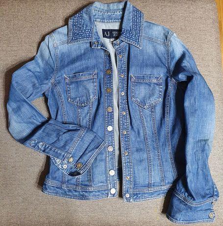 Джинсовый женский пиджак - рубашка Armani