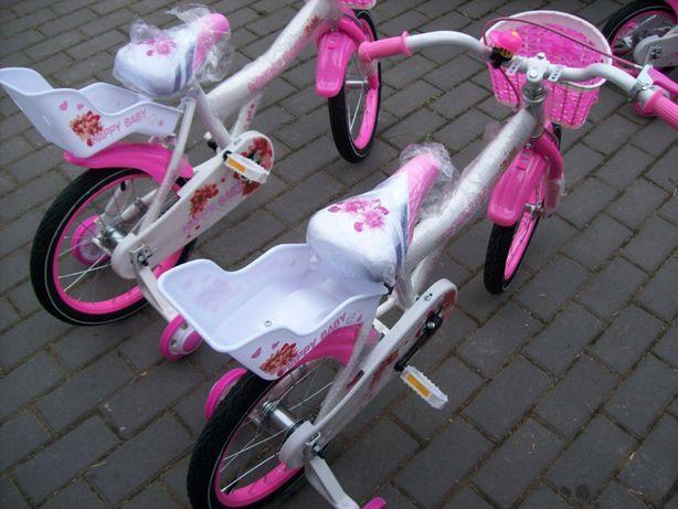 Rowerek 16 cali różowo biały Happy Baby z Niemiec nowy
