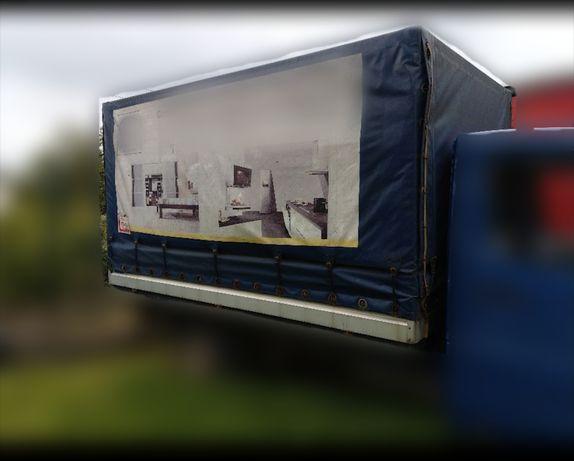 Zabudowa Mercedes Sprinter dostawczy stelaż plandeka