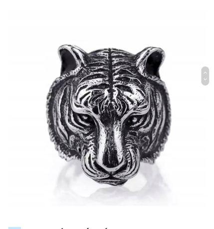 Sygnet Pierścień Obrączka TYGRYS Tiger
