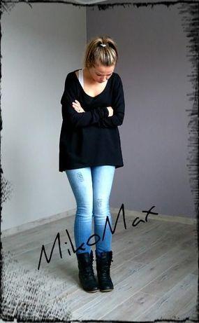 MikoMax tunika czarna luźny fason