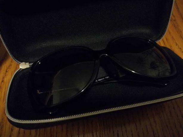 Okulary Chanel czarne muchy
