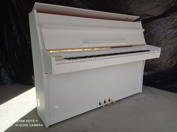Białe Pianino po renowacji nastrojone,, Calisia do nauki gry