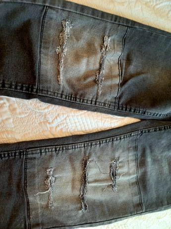 Super spodnie  z dziurami 164