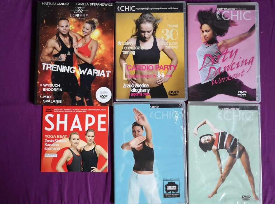 Zestaw treningów fitness, cardio, na DVD - 5 płyt + yoga beat gratis Żywiec - image 1