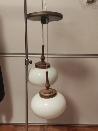 Komplet lamp wiszących plus kinkiet