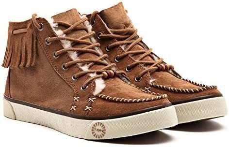 Утепленные кеды ботинки в стиле бохо от UGG Ariani натуральный замш 38