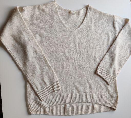 Beżowy sweterek oversize - H&M rozmiar XS