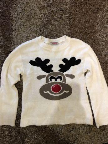 Новогодний свитер кофта светрик с-м