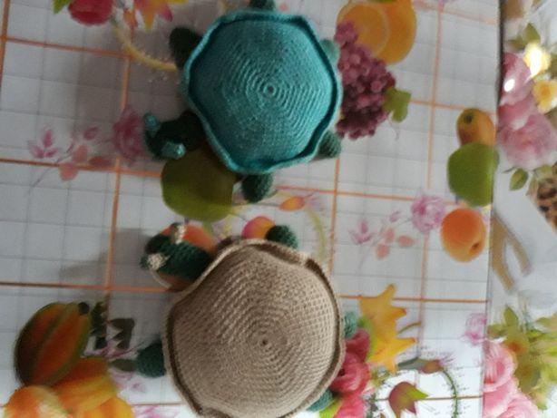 Żółw robiony na szydełku