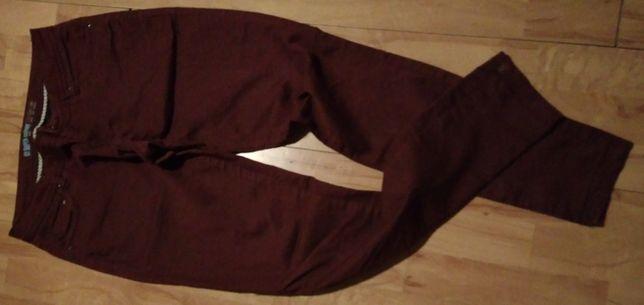 Spodnie bordowe 86 cm obwód