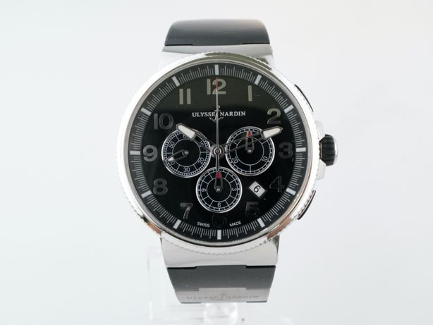 Мужские бу часы Ulysse Nardin Marine Chronograph Manufacture 43 мм