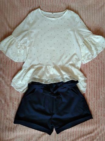 Шорти і біла блузка