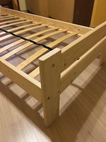 Łóżko sosnowe 90x200 ze stelażem - FLEX - pojedyncze
