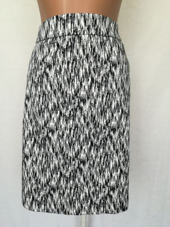 Летняя юбка зебра чёрно-белая