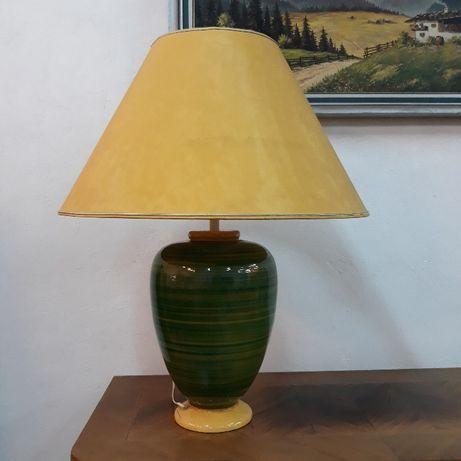 Lampa ceramiczna stołowa, Louis Drimmer, Francja, ręcznie malowana
