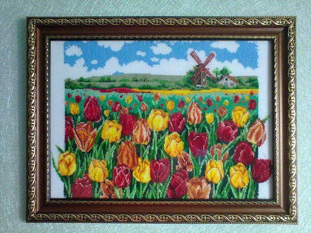 "Картина хрестом ""Тюльпанове поле"""