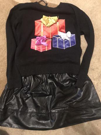 Продам новогодний комплект свитер Hm и юбка Forever21