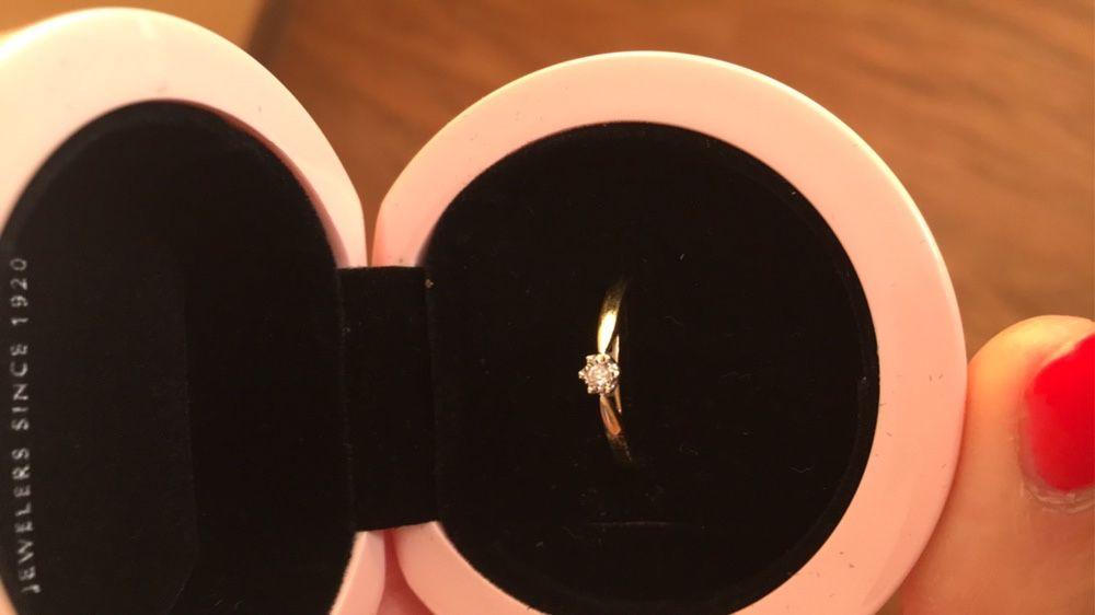 Nowy pierścionek zaręczynowy firmy apart złoto Przeworsk - image 1