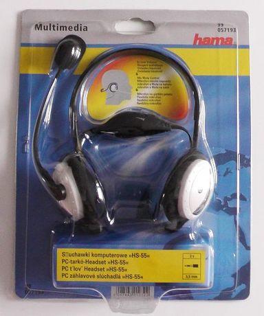 Słuchawki Komputerowe Hama HS-55 z Microfonem i regulacją głośnosci