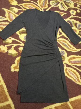 Платье темно-серое вискоза