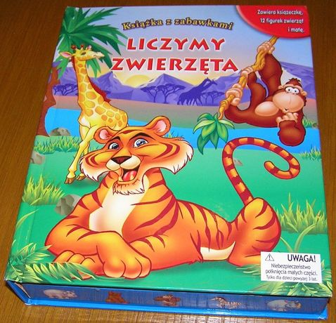 Książka z zabawkami - LICZYMY ZWIERZĘTA - figurki zwierząt(12szt.)