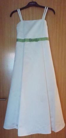 Vestidos de cerimónia/ comunhão de menina ajustáveis nas costas