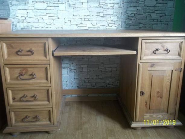 biurko sosnowe rustykalne