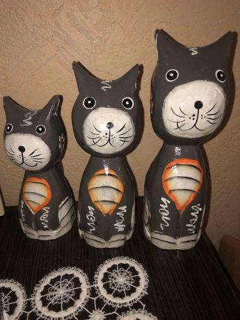 Лот. деревянные коты котики кошка кот котик из дерева