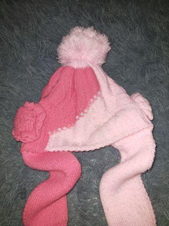 Красивая зимняя шапка на девочку 6-9 лет